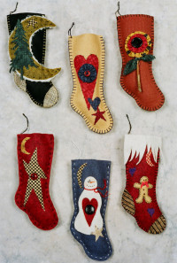 Country Felt Stockings - Product Image