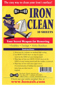 Iron Clean - Product Image